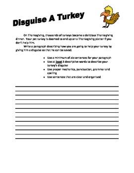 Creative Writing - Thanksgiving