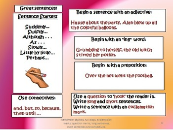 Creative Writing - The 5 Sentence Challenge!