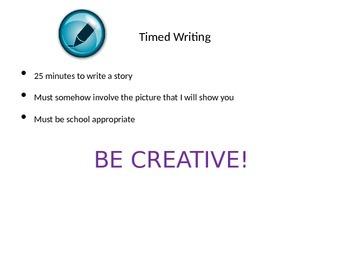 Creative Writing- Timed Writing