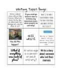 Creative Writing Topics Bingo