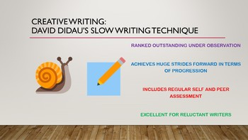 Creative Writing Using David Didau's Slow Writing Technique