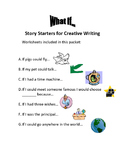 "Creative Writing - ""What If..."" Packet of 7 Story Starter"