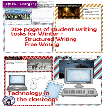 Digital Writing Prompts for Winter