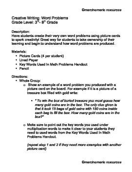Creative Writing: Word Problems