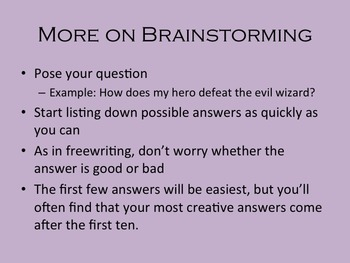 Creative Writing Workshop Lesson 2: Freewriting and Idea Generation