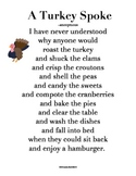 """Creative Writing: Write Your Own Version of """"A Turkey Spoke"""" Poem"""