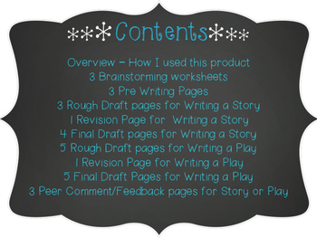 Creative Writing - Writing a Story & Play Project (Winter)