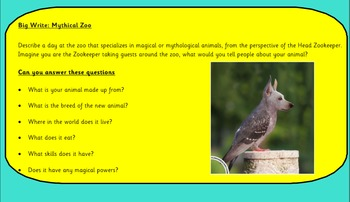 Creative Writing - Zoo Keeper for Mythological Creatures