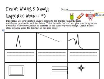 Creative Writing and Drawing Workouts Imagination Haiku ELA Visual Art Activity