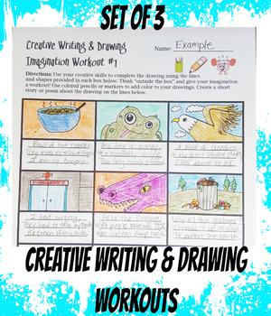 Creative Writing and Drawing Activity Language Arts Haiku Visual Art Activity