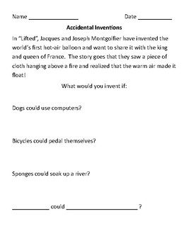 "Creative Writing and Figurative Language FREEBIE for ""Lifted"""