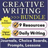 Creative Writing and Journal Writing BUNDLE | Fun Writing Activities for ELA