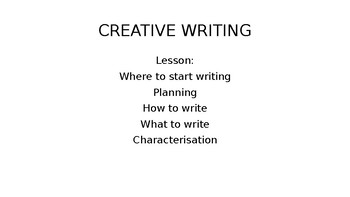 Creative Writing Lesson Plan (creating richer writing)
