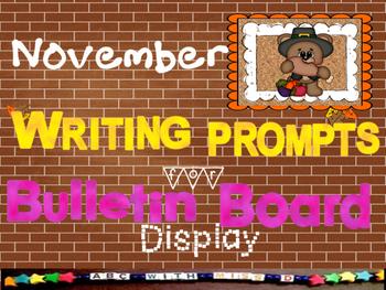 Creative Writing for Bulletin Boards-November