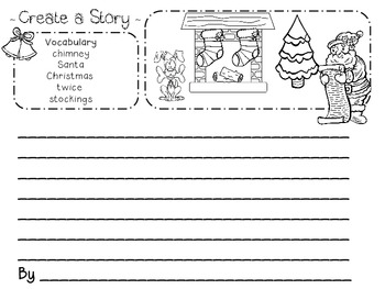 Creative Writing for Kindergarten through Second Grade Winter & Christmas