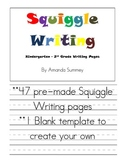 Creative Writing for Primary Grades - Squiggle Writing