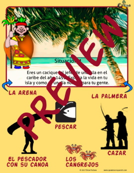 Creative Writing for Spanish Present Tense Verbs with Infinitives. Chicle Verbs!