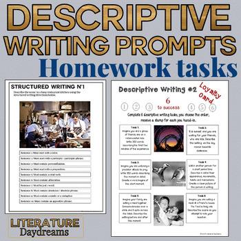 Creative Writing homework tasks