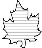 Creative Writing leaf to hang from ceiling!