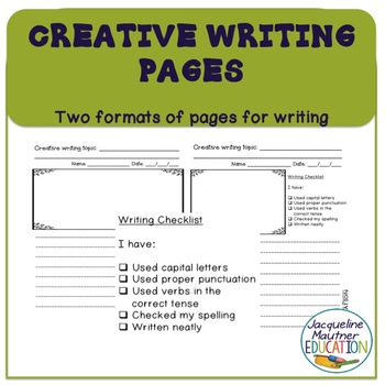 FREE Creative Writing pages