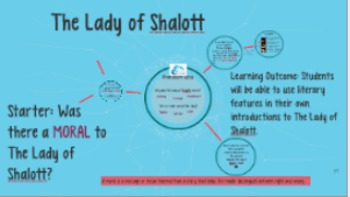 Creative Writing Lesson Linking to the Poem The Lady of Shalott by Tennyson