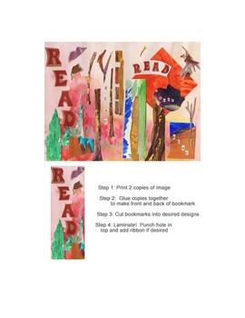 "Creative You-Cut Collage Bookmark Design ""Read"""
