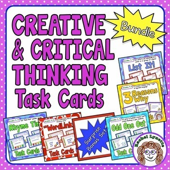 Creative and Critical Thinking Task Cards : 6 Set Bundle (368 cards!)