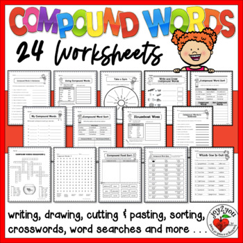 25 Creative and Fun Compound Words Work Pages With Answer Keys