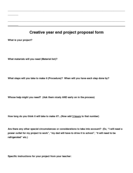 Creative end of the year project