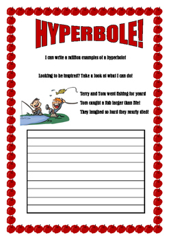 Creative hyperbole worksheet