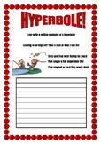 Creative hyperbole worksheet