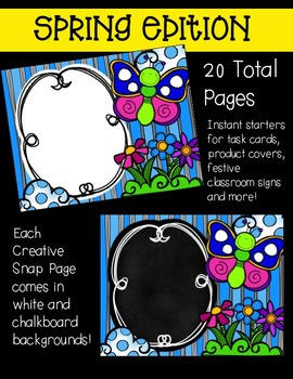 Creative in a SNAP: SPRING Edition {Creative Clips Digital Clipart}