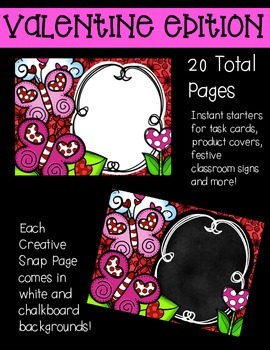 Creative in a SNAP: VALENTINE Clipart Edition {Creative Clips Clipart}