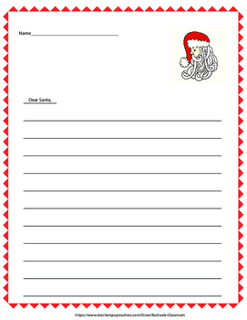 Creative letter to Santa