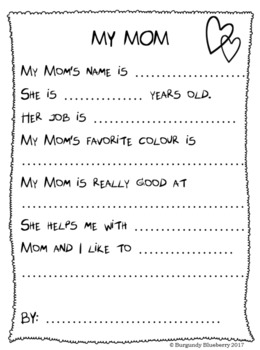 Mother's Day worksheets