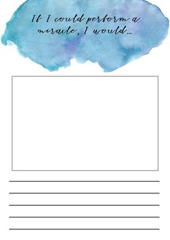 Creative writing - If I could perform a miracle - printable template