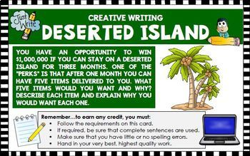 Creative Writing Activities 5 Activities Acts of Kindness Deserted Island...