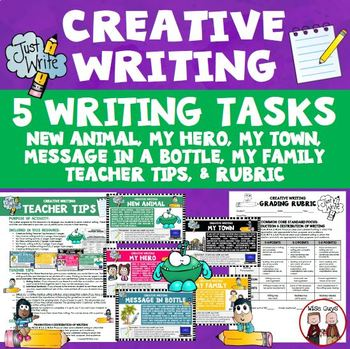 Creative Writing Activity Five Activities New Animal My Family and More