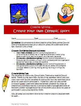 Creative writing activity Create a new Olympic sport