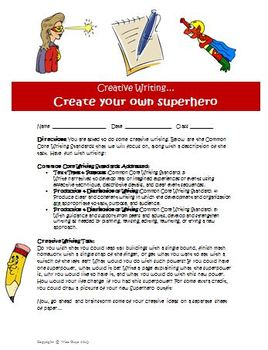 Creative writing activity Create a new superpower