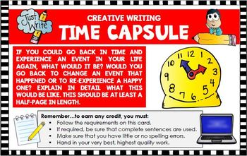 Creative Writing Five Activities Time Capsule World Records...