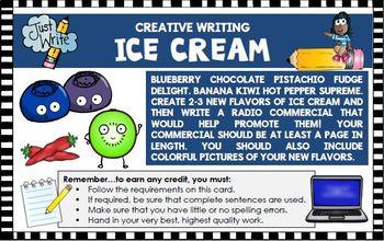 Creative Writing Activities Design a Golf Course Ice Cream Flavors Recipe