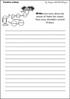 Creative writing for middle graders - Complete the story - Saber the camel