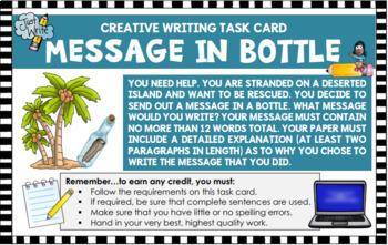 Creative Writing Idea Create a Message in a Bottle