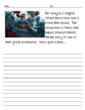 Creative writing prompt with picture
