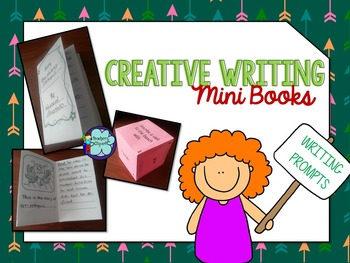 Creative writing prompts {Image prompts Minibooks & Roll a prompt game}