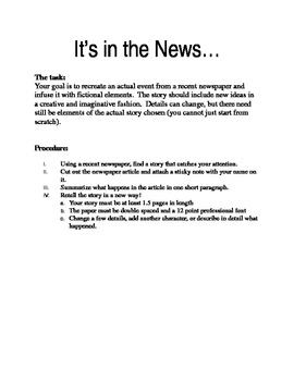 Creatively Writing the News
