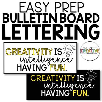 Creativity Bulletin Board Set