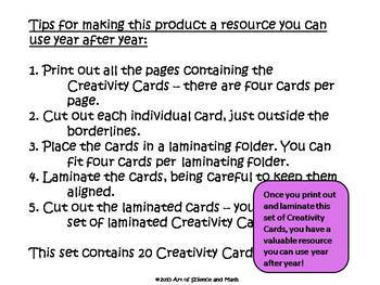 Creativity Cards Volume 1 - For all ages