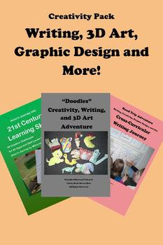 Creativity Pack -- Writing, Graphic Design, 3D Art and More! 70 Pages